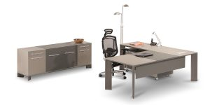 Lavan Alpha executive desk benefits from a simple and minimal design with special features and a cable passage duct.