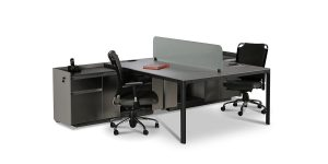 Larak workstation desk, part of Larak administrative and managerial collection, offers a special cable entry cap and a CPU compartment as well as a side cabinet with a suitable space to store office items.