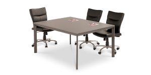 Neka C conference table, part of Neka managerial collection, offers a MDF panel with 16 mm thickness. The option of turning it to a conference table with unlimited length by utilizing the middle die-casting leg system is available.