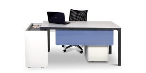 Larak B administrative offers a space for placing CPU with proper ventilation as well as a portable side cabinet with a file archiving drawer. This desk is available, in double and quadruple layouts, as a workstation.