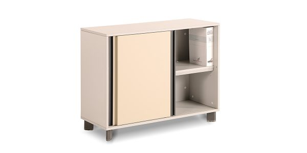 Neka sliding door cabinet, part of Neka family, offers a storage for placing binder in different dimensions.