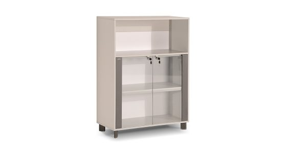 Neka2 binder storage, part of Neka managerial family, offers a suitable storage for placing binder. The legs of the product are made of extruded aluminum and anodized in silver color.