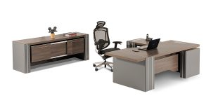 Sahand executive desk offers features such as drawers with soft-close mechanism, a file archiving drawer as well as a special compartment to store bags and personal items.