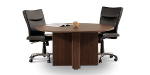 Sun conference table is suitable for 4 to 6 persons due to its circular shape.