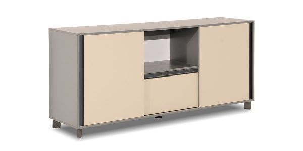 Neka credenza, part of Neka managerial collection, offers features such as special filing drawer, sliding door and a storage for placing binder in different dimensions.