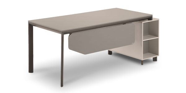 Neka D administrative desk, part of Neka managerial collection, offers two drawers with the file archiving ability. The decorative compartment, at the exterior view, adds an aesthetic charm to the product.