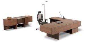 Alborz executive desk, part of Alborz executive family, offers the option of an integrated safe box and an exclusive sliding-out trash can . It also includes facilities such as drawers to store the personal and office supplies, CPU compartment with proper ventilation to prevent heating up and electric hub with power outlet, network, charging, microphone, USB and VGA socket.