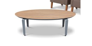 Capri oval coffee table, part of Capri executive and managerial family, is an integral part of Capri family. A negative slope at the edge of the table, with polyurethane coating, is the special feature of this product.