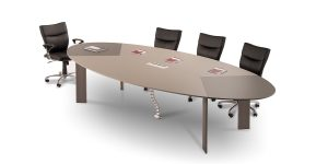 Lavan 18-person oval conference table size
