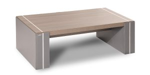 Sahand coffee table benefits from special features and is in harmony with Sahand executive collection. The use of aluminum flat bars (10 x 5 cm) adds a unique aesthetic charm to the product.