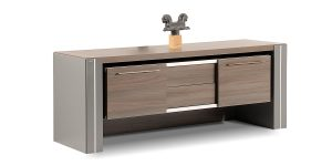 Sahand credenza offers a drawer with soft-close mechanism. The option of placing binder in the product is available. The special design and the suspension of the main part make it a distinctive option compared to similar products.