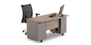 Shabnam administrative desk offers features including a drawer to store stationery items as well as a CPU compartment and a cable entry cap.