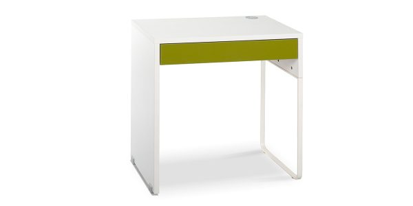 Bam writing desk offers a drawer to store stationery or personal items. Due to the desk dimensions, it occupies the least space and is quite suitable for working with laptops. The trunking installed on the desk allows you to pass the cable under the desk where the socket is easily accessible.