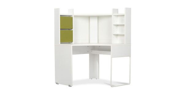 Mahan writing desk is designed to be used in wall corners to occupy the least space for proper layout and better use. It is quite suitable for working with laptops and computers, however it can be also used for different purposes depending on the type of the work. The trunking installed on the desk allows you to pass the cable under the desk, where the socket is easily accessible. It is also possible to install a shelf (Niaser) on the desk that offers two drawers and three shelves to place some office items. The desk can be turned to a workstation in little spaces by its double and quadruple arrangement.